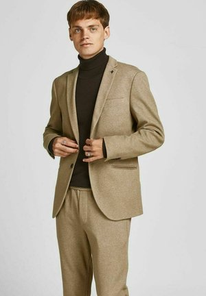 Blazer jacket - dark coat khaki