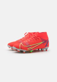 Nike Performance - MERCURIAL 8 ACADEMY FG/MG - Moulded stud football boots - bright crimson/metallic silver - 1