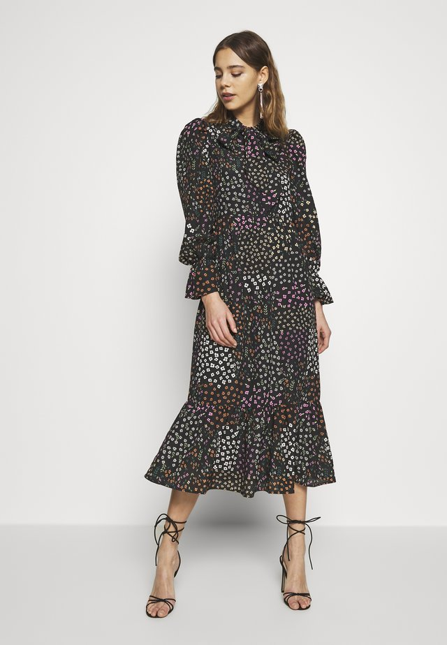 MEADOW PRINT DRESS - Korte jurk - black