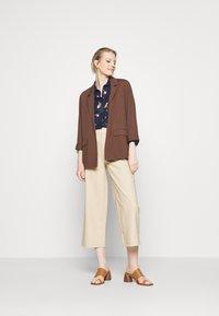 Seidensticker - LANGARM - Button-down blouse - navy - 1