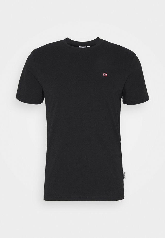 SALIS - Basic T-shirt - black