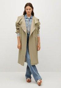 Mango - Classic coat - kaki - 1