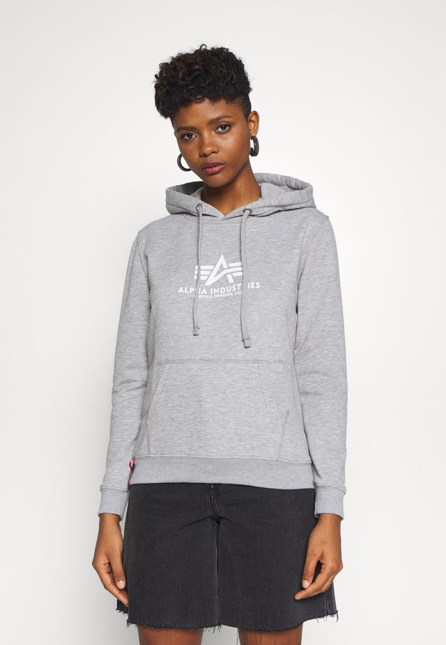 NEW BASIC  - Bluza z kapturem - grey heather
