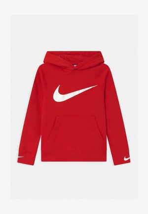 HOODED UNISEX - Hoodie - university red/white