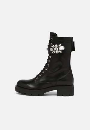 EAST CORNER - Lace-up ankle boots - black