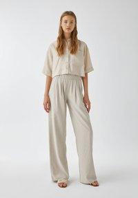 PULL&BEAR - Kalhoty - sand - 1