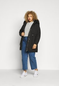 New Look Curves - LI HOODED - Parka - black - 1