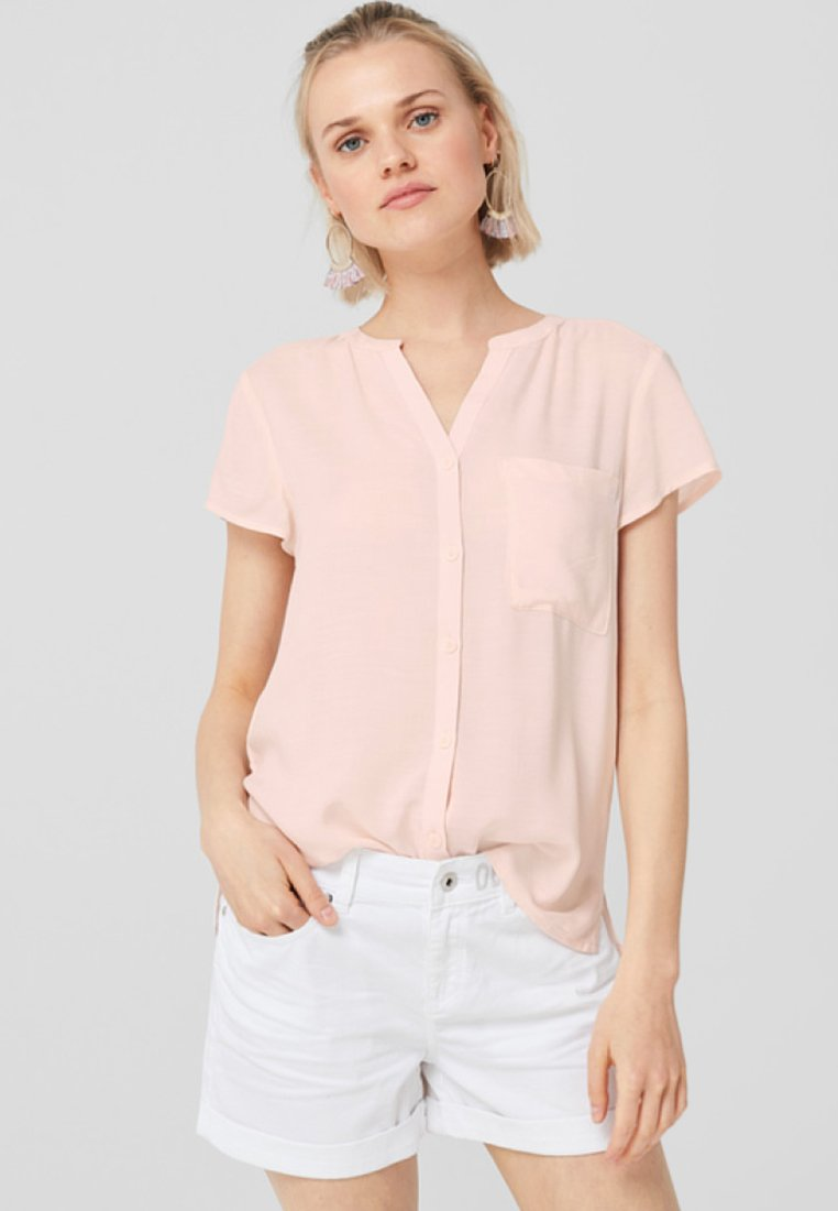 Q/S designed by - GEKNÖPFTE  - Button-down blouse - light apricot
