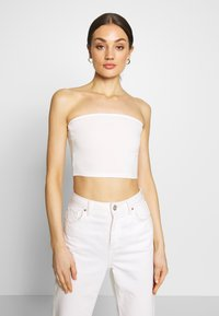 Glamorous - BANDEAU CROP TUBE 2 PACK - Topper - white/cerise pink - 4