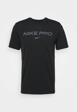 TEE PRO - Camiseta estampada - black/iron grey