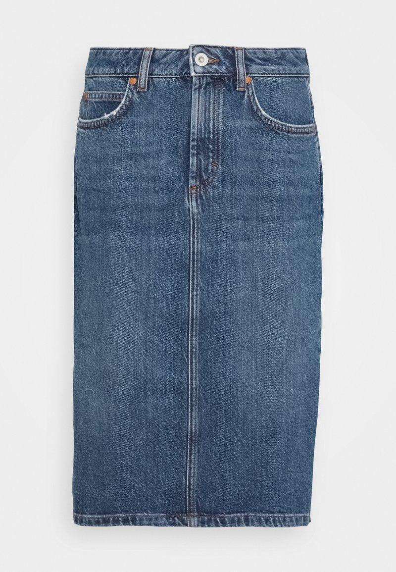 Marc O'Polo - SKIRT OVER KNEE LENGTH - Denim skirt - mid authentic wash