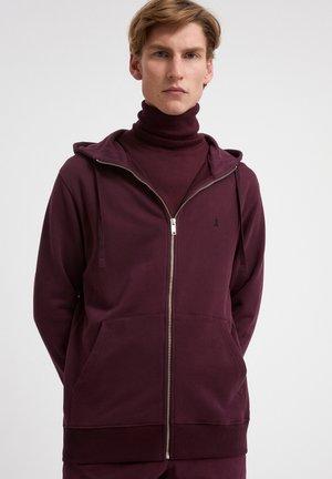 Zip-up sweatshirt - dark aubergine