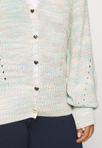Simply Be - LOFTY CARDIGAN - Cardigan - pink/green - 5