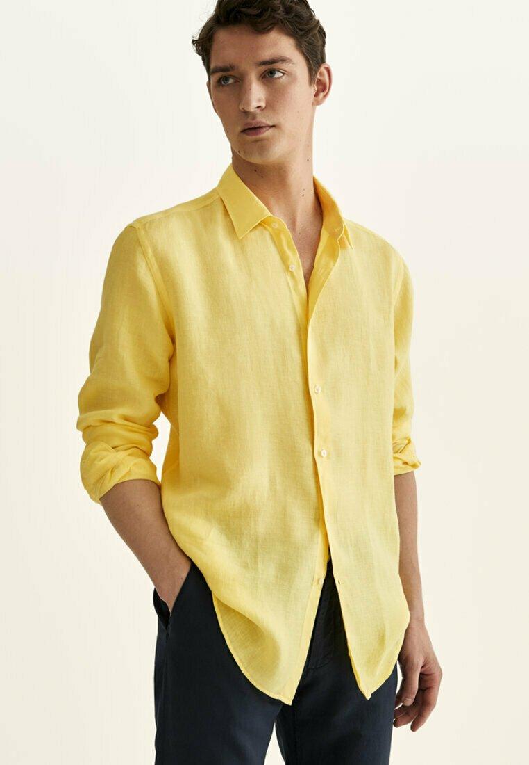 Massimo Dutti - Shirt - yellow