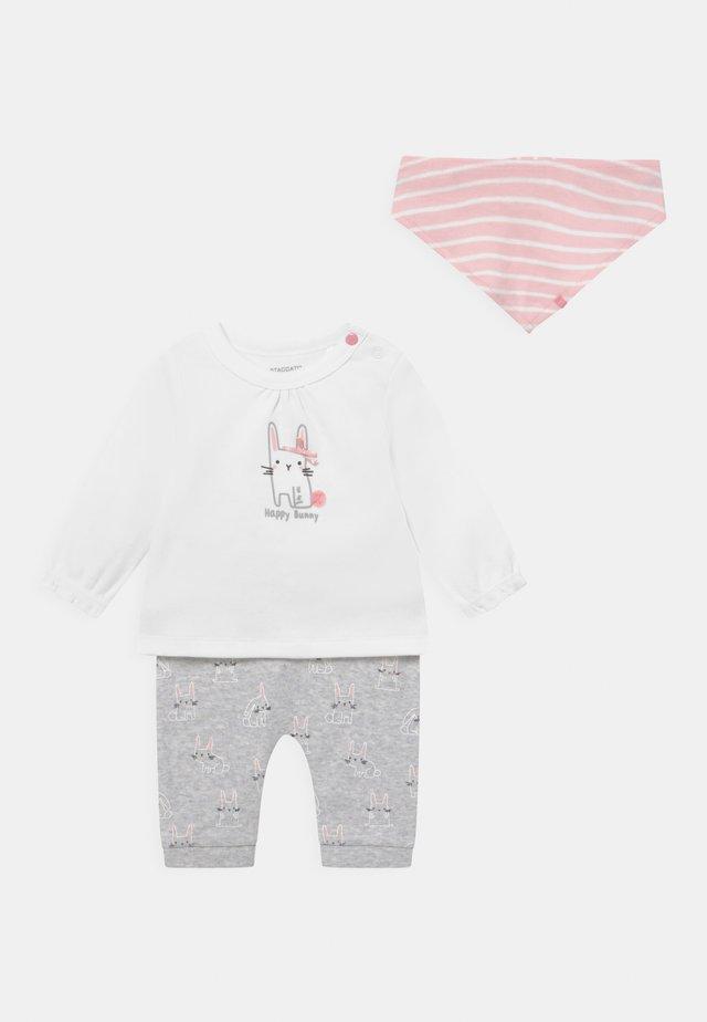 SET - Legging - grey/light pink
