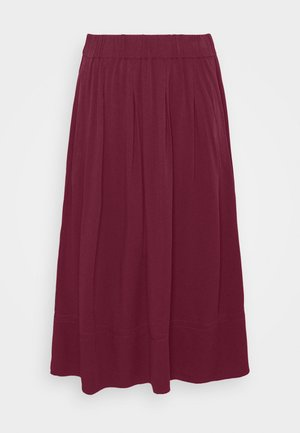 KIA MIDI - A-line skirt - dark red