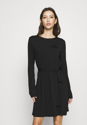 VIEBONI TIE DRESS - Jersey dress - black