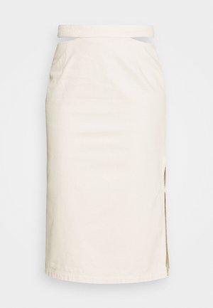 CUT OUT SKIRT - Denim skirt - light beige