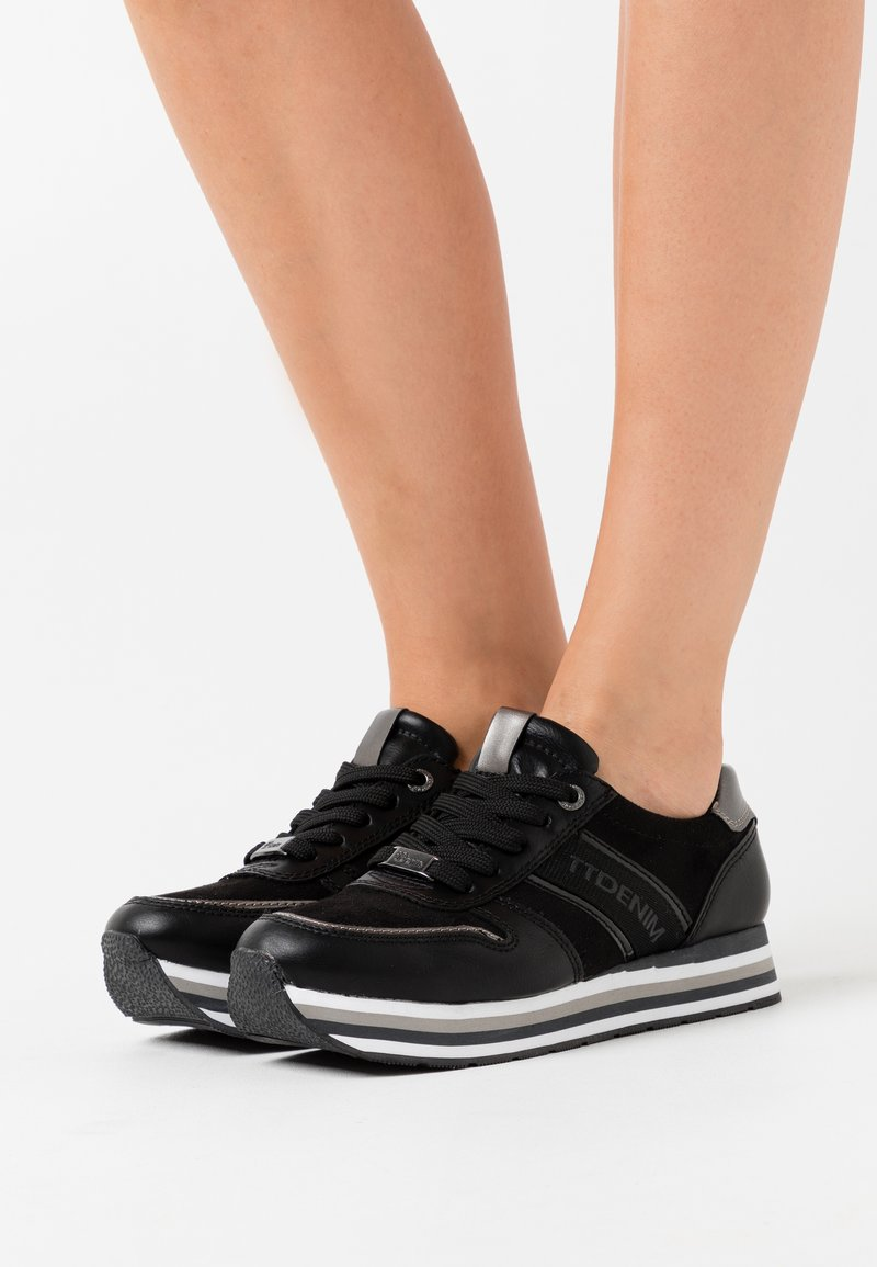 TOM TAILOR DENIM - Zapatillas - black