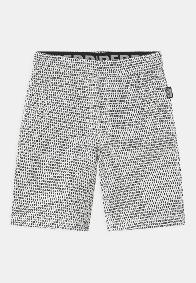 UNISEX - Sports shorts - black/white