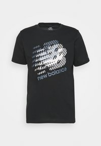 GRAPHIC HEATHERTECH TEE - Print T-shirt - black/white