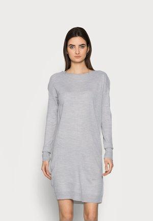 ONLAMALIA DRESS TALL - Jumper dress - light grey melange