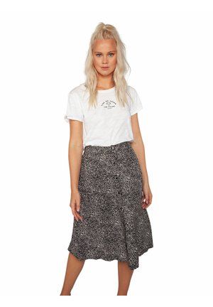 LOLLIE  - Print T-shirt - off-white/black