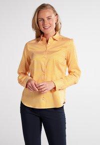 Eterna - MODERN CLASSIC - Button-down blouse - gelb/weiss - 0