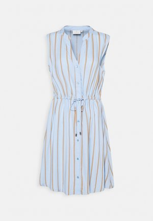GAMILA DRESS - Day dress - chambray blue/sand