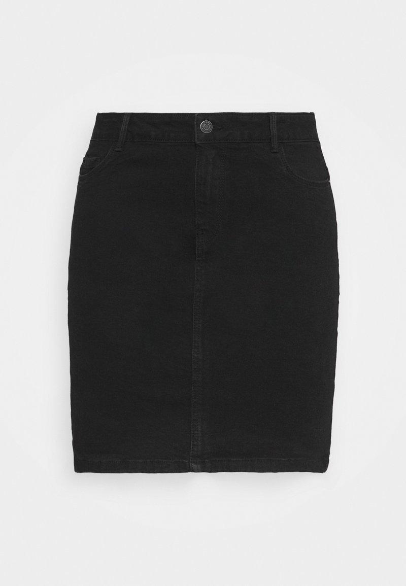 Vero Moda Curve - VMHOT SKIRT - Mini skirt - black