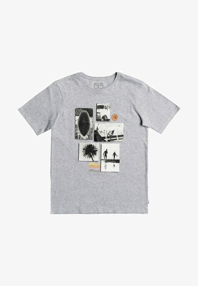 T-shirt print - micro chip heather