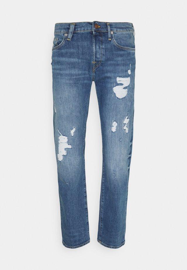 ROCCO DESTROYED - Slim fit jeans - blue denim