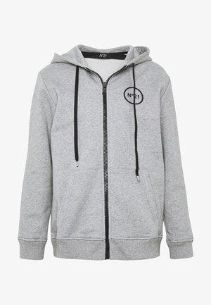 Zip-up hoodie - melange grey