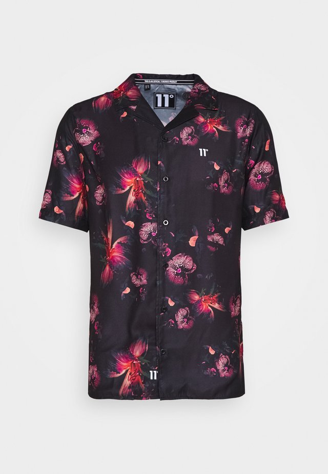 SHORT SLEEVE RESORT SHIRT - Shirt - black/red