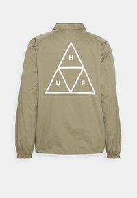 HUF - ESSENTIALS COACHES JACKET - Summer jacket - stone - 1