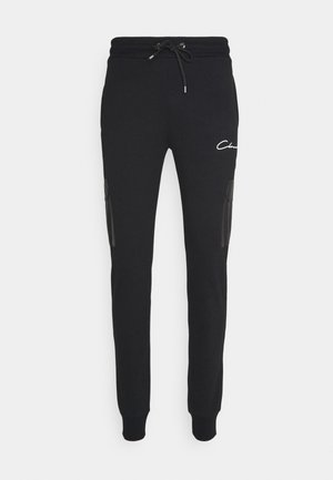 CONTRAST UTILITY JOGGER - Tracksuit bottoms - black