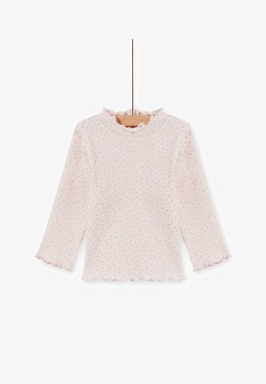 ROLL-NECK - Long sleeved top - white