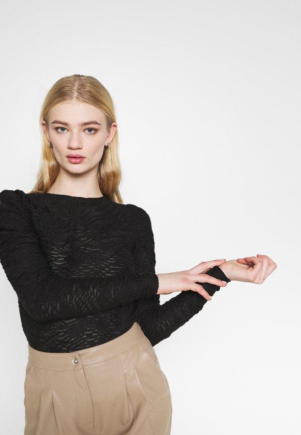 Vero Moda VMJUDITH PUFF - Bluzka - black/czarny PQWT