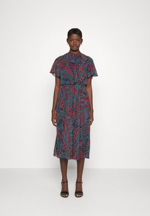 AGUSTIN SHORT SLEEVE DAY DRESS - Day dress - lighthouse navy/red/multi coloured