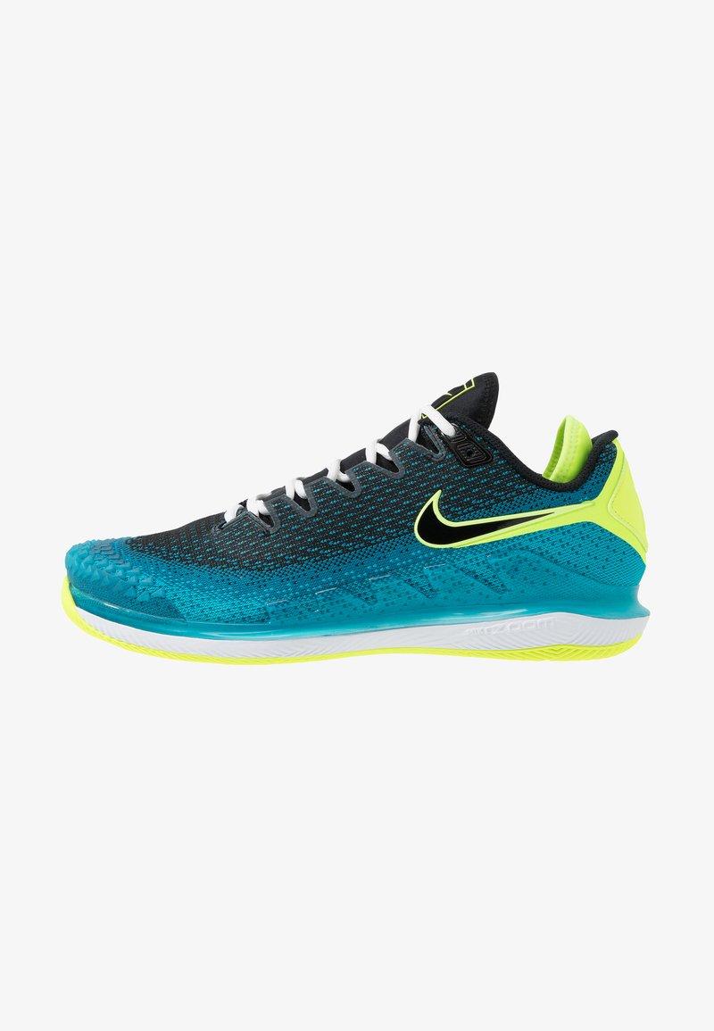 Nike Performance - AIR ZOOM VAPOR X - Chaussures de tennis toutes surfaces - neo turquoise/black/green/hot lime