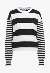 Opening Ceremony - CROPPED STRIPE - Long sleeved top - black/white - 4