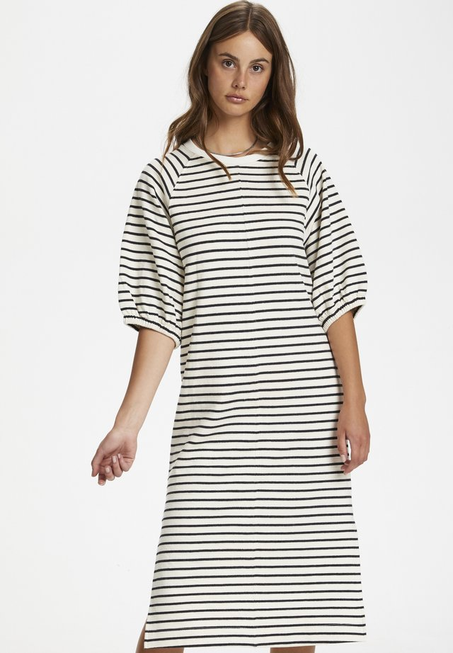 SLINGE - Sukienka letnia - whisper white w black