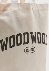 Wood Wood - HIGH UNISEX - Cabas - off-white/black - 3
