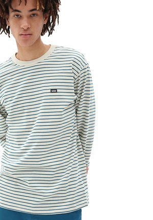 MN OFF THE WALL CLASSIC STRIPE LS - Print T-shirt - seed pearl/moroccan blue