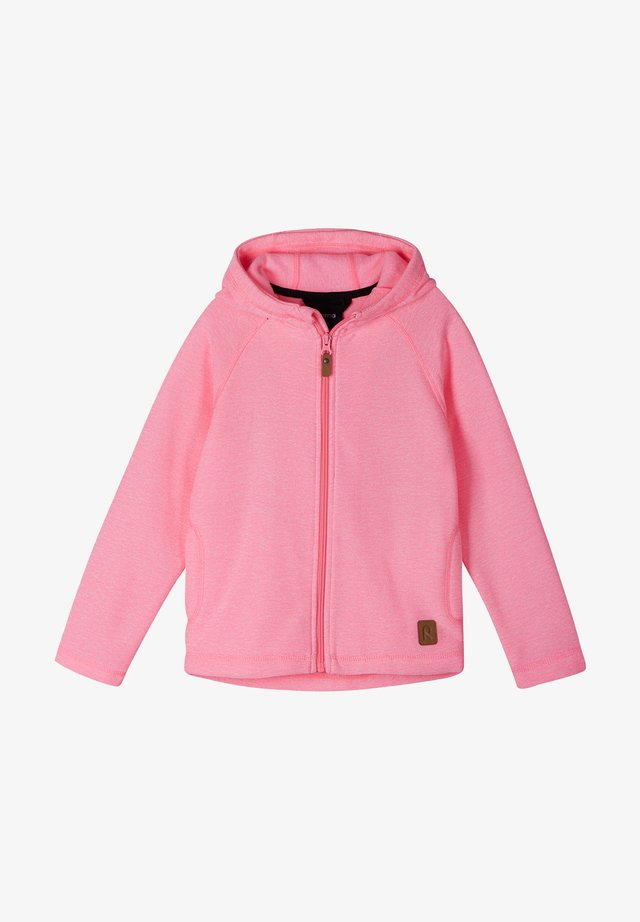HAAVE - Huvtröja med dragkedja - neon pink