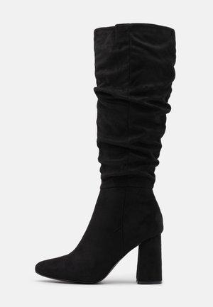 ONLBRODIE LIFE BOOT - Kozačky na vysokém podpatku - black