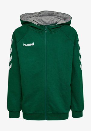 HMLGO - Zip-up hoodie - evergreen