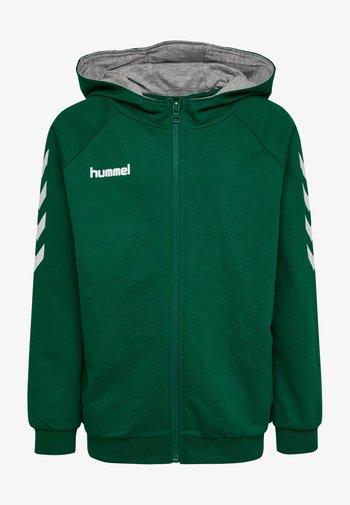 Sweater met rits - evergreen