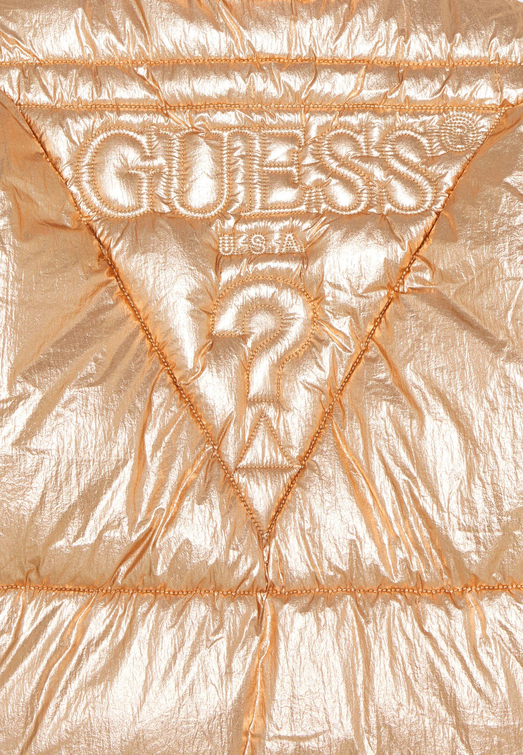 Niesamowita cena Zakupy Guess JUNIOR HIGH LOW PADDED - Kurtka zimowa - light copper multi | Dzieci Odzież 2020 JSaFK