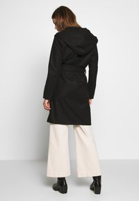 JDY - JDYOVIDA LONG HOOD JACKET - Short coat - black - 2